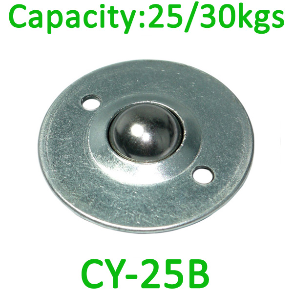 CY-25B ball transfer unit,25kg load capacity caster unit, 25mm carbon steel transfer ball unit