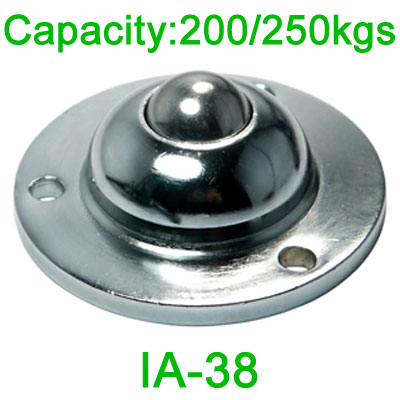 IA-38 ball transfer unit,200kg load capacity transfer ball,38mm steel ball unit