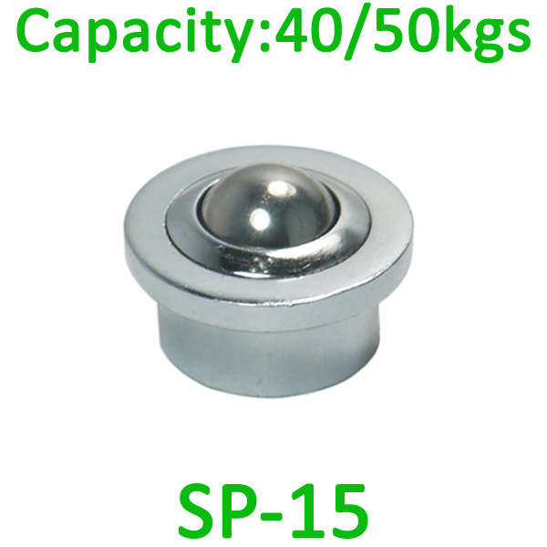 SP-15 ball transfer uint,40kg load capacity ,15mm Bearing ball unit